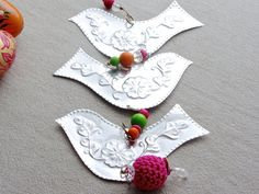 Hippie Chic Hanging Decoration Metal Birds Metallic by FoilingStar, $42.00