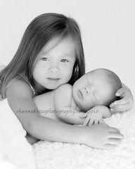Cute sibling pose