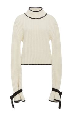 J.W.ANDERSON Mockneck Pullover Sweater. #j.w.anderson #cloth #sweater