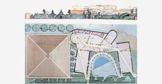 Peter Cook's Drawings, House of 2 studios, CRAB Peter Cook, Architecture Design, Studios, Tapestry, Cooking, Drawings, House, Hanging Tapestry, Kitchen