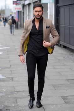 He's back: Mario Falcone, pictured in March, is resuming filming on The Only Way Is Essex ...