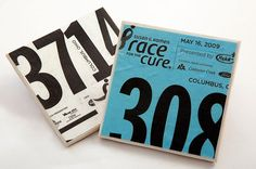 2 Coasters Made From Your Race Bib/Runner Number
