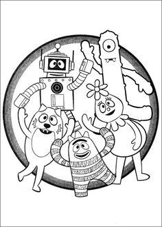 yo gabba gabba kleurplaten voor kinderen kleurplaat en afdrukken tekenen n 3