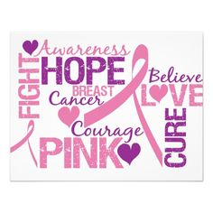 breast+cancer+awareness | Breast Cancer Awareness Personalized Announcement from Zazzle.com