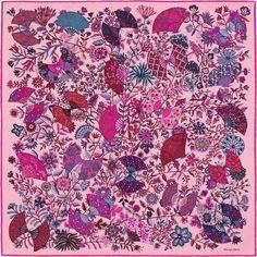 Gavroche 45 x 45 cm Hermès | Fleurs et Papillons de Tissus