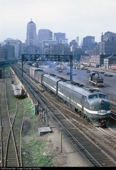"marmarinou: "" New York Central passenger train departing La Salle Street Station Chicago June 17, 1967 Photo by Ted Ellis """