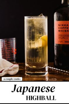 The Japanese Highball is a bubbly cocktail starring Japanese whiskey and sparkling water! It's impressive and easy to drink. | alcoholic drinks | drinks | cocktails | whiskey cocktails | whisky cocktails | club soda cocktails | summer cocktails | #japanesewhiskey #japanesehighball #cocktail #japanese #whiskey #whiskeycocktail Best Whiskey Cocktails, Best Summer Cocktails, Champagne Drinks, Tequila Drinks, Best Cocktail Recipes, Vodka Cocktails, Cocktail Drinks, Alcoholic Drinks, Whiskey Ginger