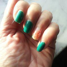 My nails. ..green..#nails#nailsart#designer#nagellack#nailpolish#love#colors#vernis#cosmetics#makeup#accessory#