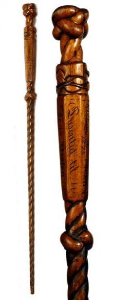 Walnut Folk Art Cane