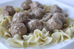 Sweedish Meatballs crockpot meal.  Super simple. Use lowfat campbells soups and sour cream to make it a somewhat healthy meal!