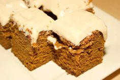 Pumpkin Cake with Honey Cream Cheese Frosting