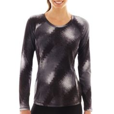 Xersion™ Long-Sleeve Performance Crewneck Tee   found at @JCPenney