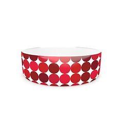 Kess InHouse KESS Original Noblefur Red Pet Bowl 475Inch Dots * See this great product.