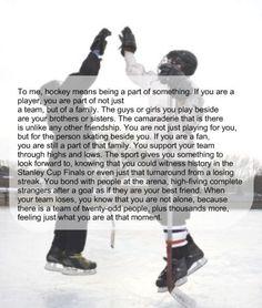 Being a true hockey fan