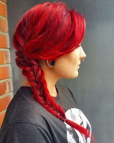 Red fishtail braid