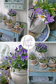 Home Shabby Home: Decorating with flowers
