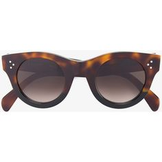 62156f25a25 Céline Eyewear Tortoiseshell Baby Audrey Sunglasses ( 305) ❤ liked on  Polyvore featuring accessories