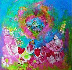 Acrylverf op doek 80x80 cm Wilma Koolstra (@kleurenderwijs) | Twitter Twitter, Painting, Art, Art Background, Painting Art, Kunst, Paintings, Performing Arts, Painted Canvas