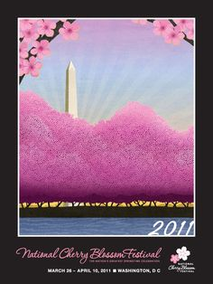 National Cherry Blossom Festival Poster by Michael Gibbs, 2011