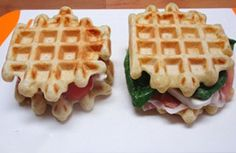 WW mild salted waffles, recipe for savory mild waffles in a salty, mellow and barely crispy model, simple to make Vegetarian Cooking, Vegetarian Recipes, Healthy Recipes, Waffle Pops, Wheat Belly Recipes, Savory Waffles, No Carb Recipes, Low Carbohydrate Diet, Dukan Diet