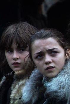 Arya and Bran Stark