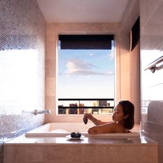 Enjoy Strip views from a Japanese soaking tub with a Terrace One Bedroom. Photo Cred: Toshiko S.