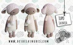 Lupo oveja muñeco de ganchillo hecho con el por DesdelasNubes  Crochet amigurumi