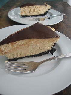 Must sub out dairy for coconut cream & butter ... and make cocoa/carob crust from scratch  Chocolate Peanut-Butter Pie