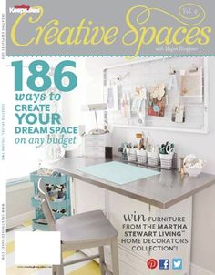 Creative Spaces Vol. 2 magazine full of lots of great craft room ideas!