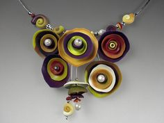 Purple/ Yellow cups necklace by Laura Tabakman, via Flickr