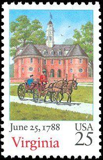 6327aa1c398 1988 25c Virginia Virginia History