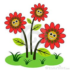 Gallery For > Happy Flowers Clip Art