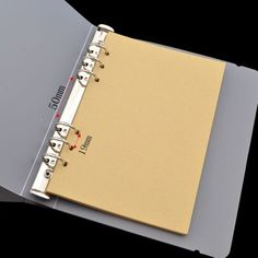 A5-A6-Transparent-Binder-File-Folder-Storage-Strapping-Replacement-Without-Paper