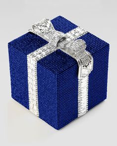A small gift you can carry around withy you!  Crystal Cube Gift Clutch Bag by Judith Leiber at Bergdorf Goodman.