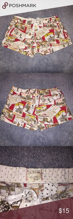 J. Crew Tourism Lounge Shorts Good condition, snow & city scenery print J. Crew Intimates & Sleepwear Pajamas
