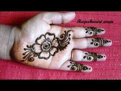 simple arabic henna mehndi designs for hands || arabic mehndi designs for hands step by step - YouTube
