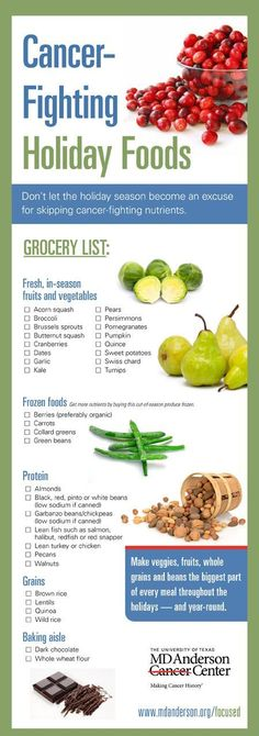 Adults can avoid holiday weight gain by stocking up on the cancer-fighting foods listed in the new Holiday Food Grocery List, created by experts at The University of Texas MD Anderson Cancer Center.