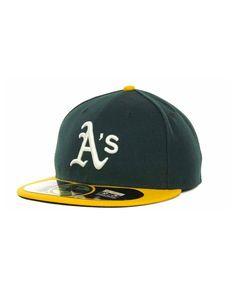 buy online 56a2a 046bd New Era Oakland Athletics Authentic Collection 59FIFTY Hat   Reviews -  Sports Fan Shop By Lids - Men - Macy s