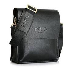 POLO Men Shoulder Bags Famous Brand Casual Business PU Leather Mens  Messenger Bag Vintage Men s Crossbody ad3eda383de