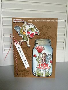 Stampin' Up! Fairy Celebration & Jars of Love, - Birthday Card