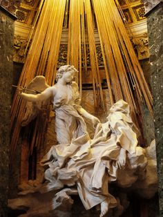 The Ecstasy of St Theresa, Erotic Art....when I first saw this as  a child at a small chapel in Italy.. I was astounded by its beauty and eroticism... if you want kink you only have to look to the Catholics to find it..lol!