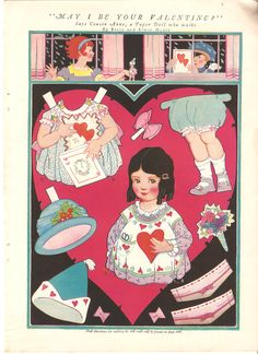 Miss Missy Paper Dolls: May I Be Your Valentine