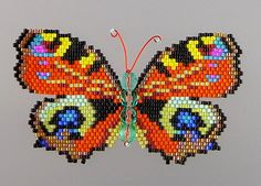 Large Peacock Butterfly PDF Pattern and by WizardIslandDesigns