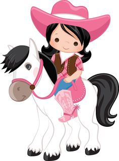 Cowgirl Baby, Cowgirl Birthday, Cowboy And Cowgirl, Cow Girl, Clip Art Pictures, Western Parties, Cowboy Party, Kids Birthday Cards, Happy Birthday