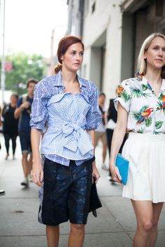 Taylor Tomasi Hill, 53 street style photos from New York Fashion Week #NYFW #check #stripe