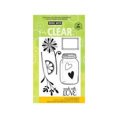 Hero Arts - Poly Clear - Clear Acrylic Stamps - Love Jar at Scrapbook.com