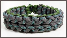 "Paracord Bracelet Tutorial: ""Cloverfield V1"" Bracelet Design Without Buckle"