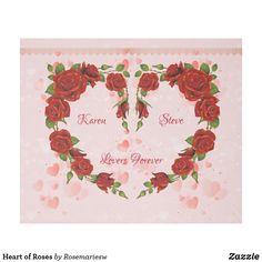 Heart of Roses Fleece Blanket  #valenitne #roses #love #postage #redroses #weddings #Iloveyou #redroses #wedding #justmarried
