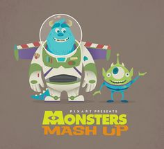 Disney Mash-Up: Monsters Inc and Toy Story. Disney Pixar, Walt Disney, Disney Monsters, Cute Disney, Disney Magic, Disney Parks, Monsters Ink, Disney Films, Toy Story