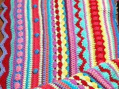 Another gorgeous stripey crochet blanket.